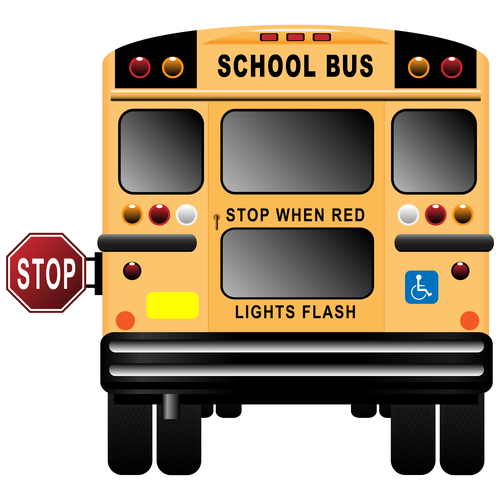 Illustration of a school bus.