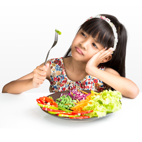 Girl and food