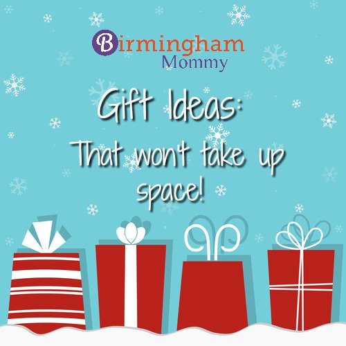 Gift ideas that won't take up space