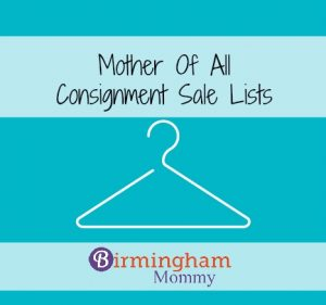 Consignment List Fall 2016 Birmingham