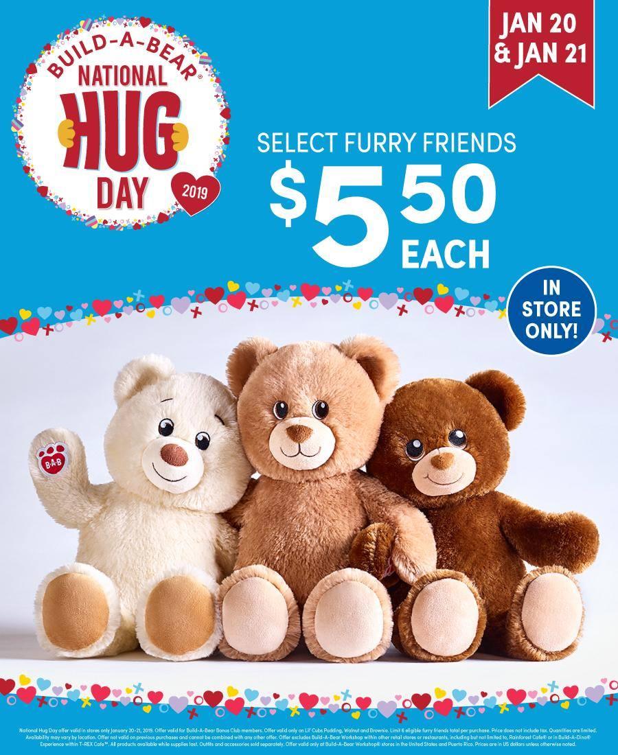 build a bear offering bears for national hug day birmingham mommy. Black Bedroom Furniture Sets. Home Design Ideas