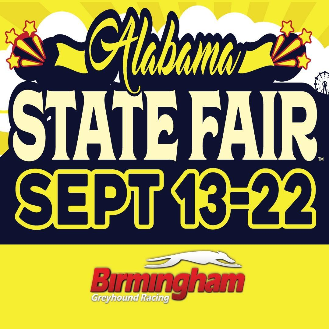 Alabama State Fair with Dates and Birmingham Race Course Logo