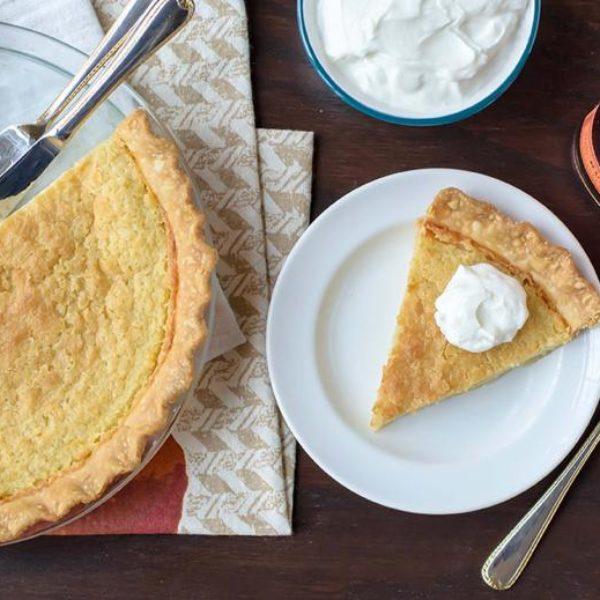 Slice of Bourbon Buttermilk Pie
