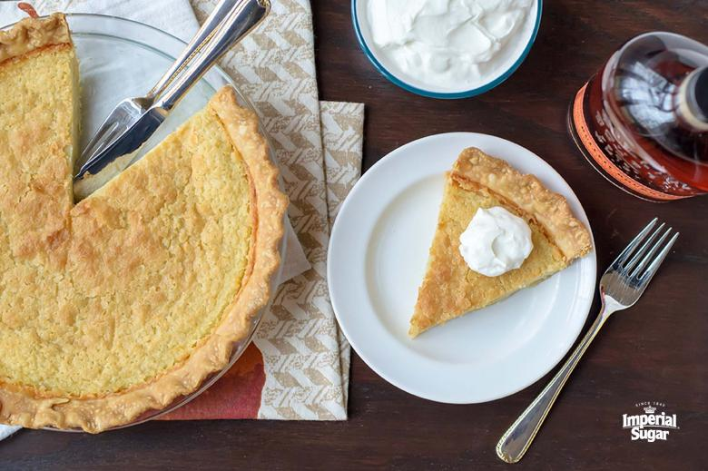 Slice of Bourbon Buttermilk Pie